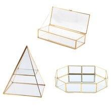 Schmuckstück Lagerung Fall Shinnie Frauen Schmuck Dispaly Stand Pyramide Klar Glas Box Schmuck Display Box Eitelkeit Tablett Für Mädchen