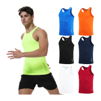 Chaleco de correr para hombre, camiseta sin mangas ajustada de secado rápido para entrenamiento, Fitness, compresión, gimnasio, sin mangas