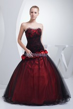 free shipping luxury 2018 sweetheart Red flowers Formal Party Pageant Quinceanera vestido de noiva mother of the bride dresses