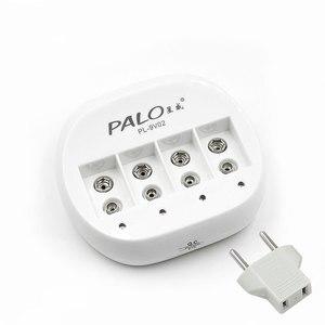 Image 1 - PALO 4 Slot 9V Batteria di Vendita Calda del Caricatore Intelligente Ricaricabile Intelligente Caricabatterie Rapido Per 6F22 9V Batteria Al Litio EU/Spina DEGLI STATI UNITI