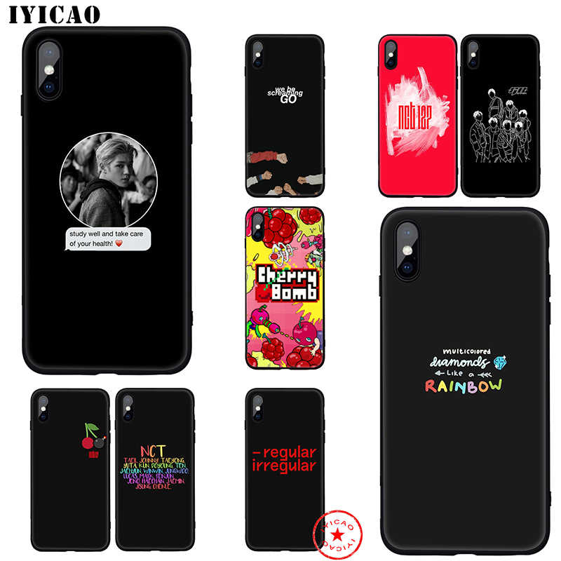 IYICAO NCT 127 K Pop Soft Case for iphone 11 Pro Xr Xs Max 6 6s 7 8 Plus 5 5s Se Silicone TPU 7 Plus