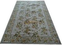 프랑스 카펫 유럽 거실 차 테이블 카펫 유럽 고급스러운 수동 크로스 자수 카펫
