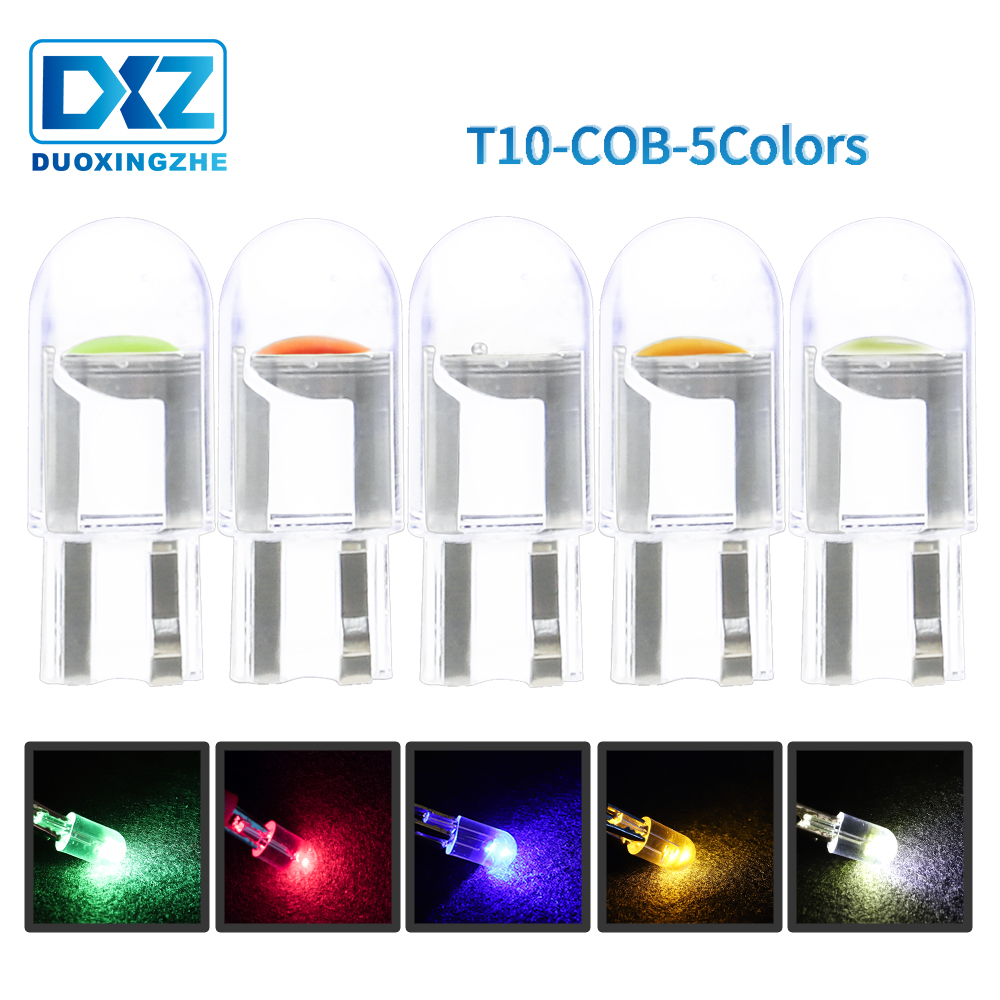 DXZ Car T10 Led Canbus 6000K White T10 W5w Led Bulbs DRL Turn Parking Width Interior Dome Light Reading Lamp 12V Car Styling
