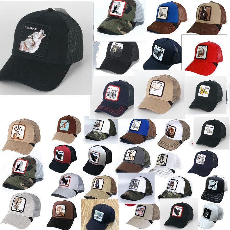 New Baseball Cap Animal Embroidery Anime Cute Embroidery Summer Mesh Men's Ms. Outdoor Sunshade Truck Driver Hats
