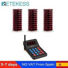 Téléavertisseur de Restaurant Retekess T119 avec 30 récepteurs de téléavertisseur pour les téléavertisseurs de système dappel de file dattente de clinique de café pour des Restaurants