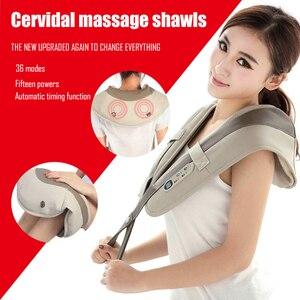 Image 1 - U şekli boyun masaj ağrı boyun ve omuz çok fonksiyonlu dokunarak masaj taşınabilir elektrikli topları servikal masaj şal