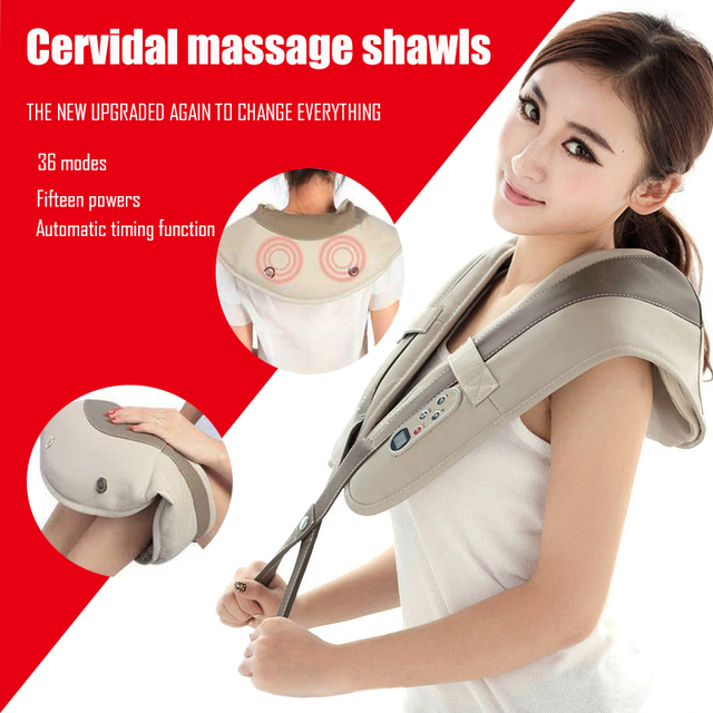 U şekli boyun masaj ağrı boyun ve omuz çok fonksiyonlu dokunarak masaj taşınabilir elektrikli topları servikal masaj şal