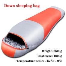 Winter Slaapzak Dikke Warme Down Slaap Sack Outdoor Volwassen Mummies Sleepsack Camping Apparatuur