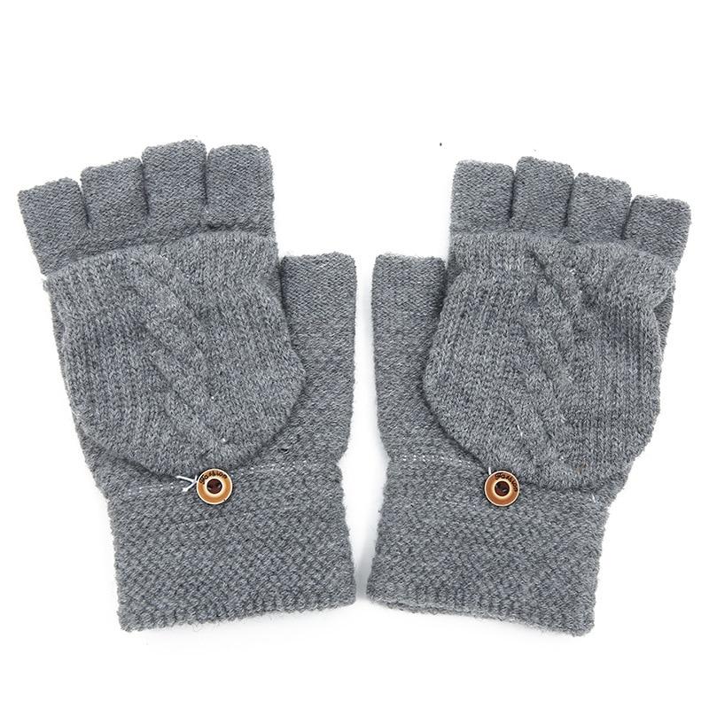 2019 New Fashion Lady Men Hand Wrist Warmer Winter Fingerless Gloves High Quality Female Gloves Gift Hot