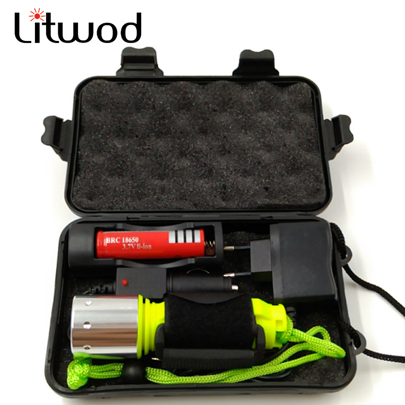 2000LM T6/ Q5 LED Waterproof Scuba Diver Diving Flashlight Underwater Flash Light Torch