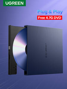 DVD RW Dvd-Drive Ugreen Lenovo External Dell Burner Laptop Cd/Dvd-Rom-Combo Windows/mac