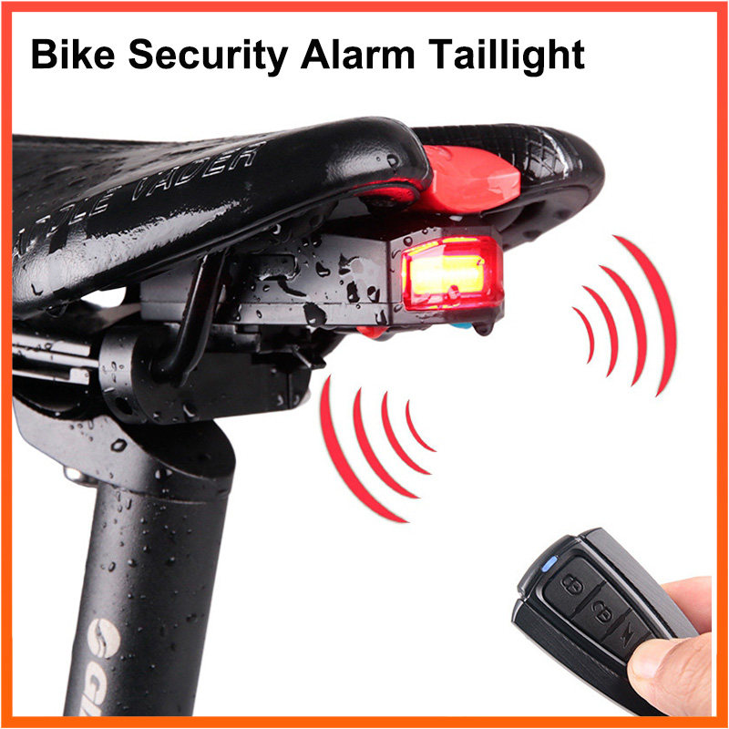 4 Sets Bike Light Head Tail Lights5 LED Lamp Safety Alarm Bicycle Cycle sydney