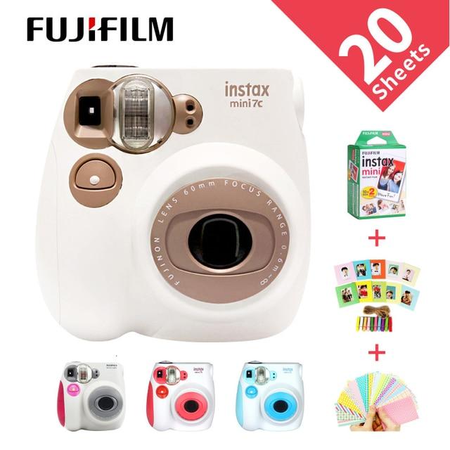 Nieuwe Genuine Fujifilm Instax Mini 7C 7S Camera 6 Kleuren Te Koop Wit Roze Blauw Instant Afdrukken Foto Film snapshot Schieten