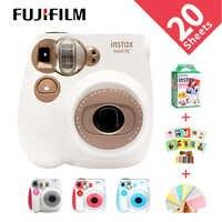 Nova genuína fujifilm instax mini 7c 7 s câmera 6 cores à venda branco rosa azul impressão instantânea foto filme instantâneo tiro