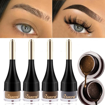 4 Color Eyebrow Cream Enhancers Long-lasting Waterproof Air-cushion Dye Eye Brows Gel Brown Tinted Liquid Eyebrows Tint Makeup