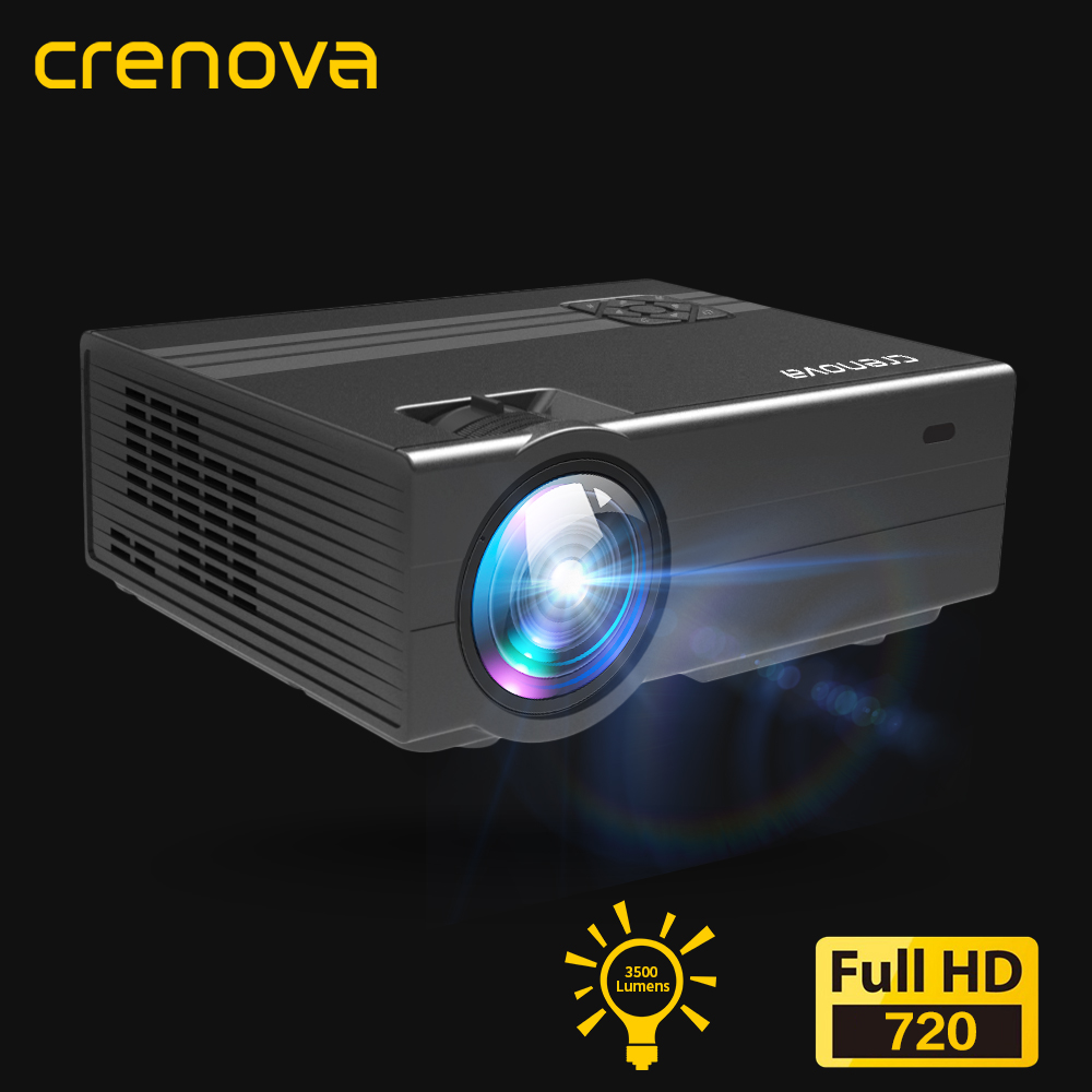 CRENOVA 2019 Newest Led Projector With 1280 720P Physical Resolution Android 6 0 OS 3500 Lumens