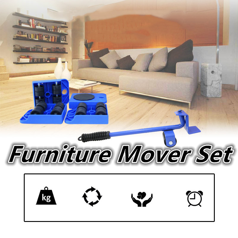 Furniture Mover  Furniture Lifter Heavy Professional Furniture Roller Move Tool Set Wheel Bar Mover Sliders Transporter Kit Trol