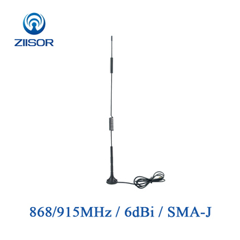 915MHz 868MHz Lora 900MHz Antenna with Magnetic Base Omni High Gain Antennas with SMA Male Vendor DTU Aerial TX900-XPL-100(33) 915mhz rfid panel directional antenna outdoor waterproof n female high gain antena lora wireless module network tx900 pb 2626nk