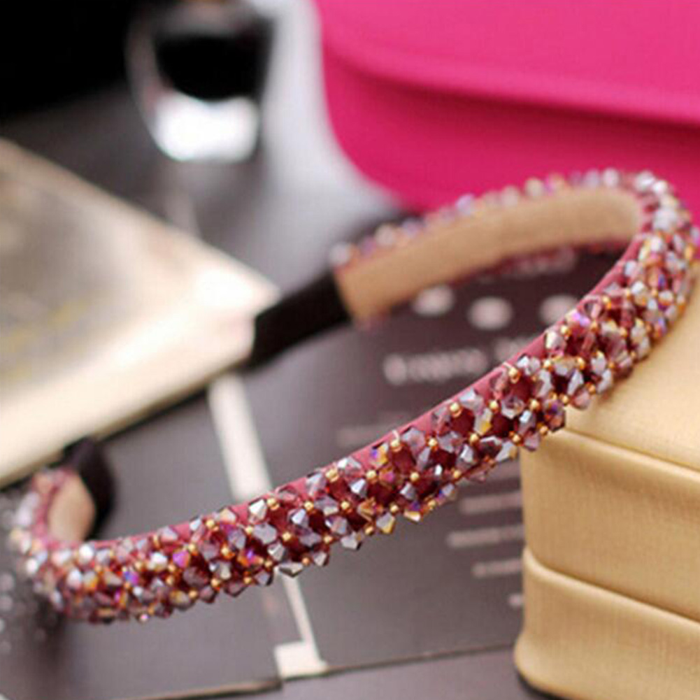 Fashion Shinny Crystal Hairbands Beaded Hair Hoop 2020 New Diamond Hair Band For Women Rhinestone Headbands Hair Accessories