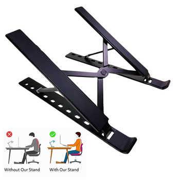Portable Laptop Stand Foldable Aluminum Adjustable Desktop Tablet Holder Desk Table Support Base Notebook Stand Holder for Macb