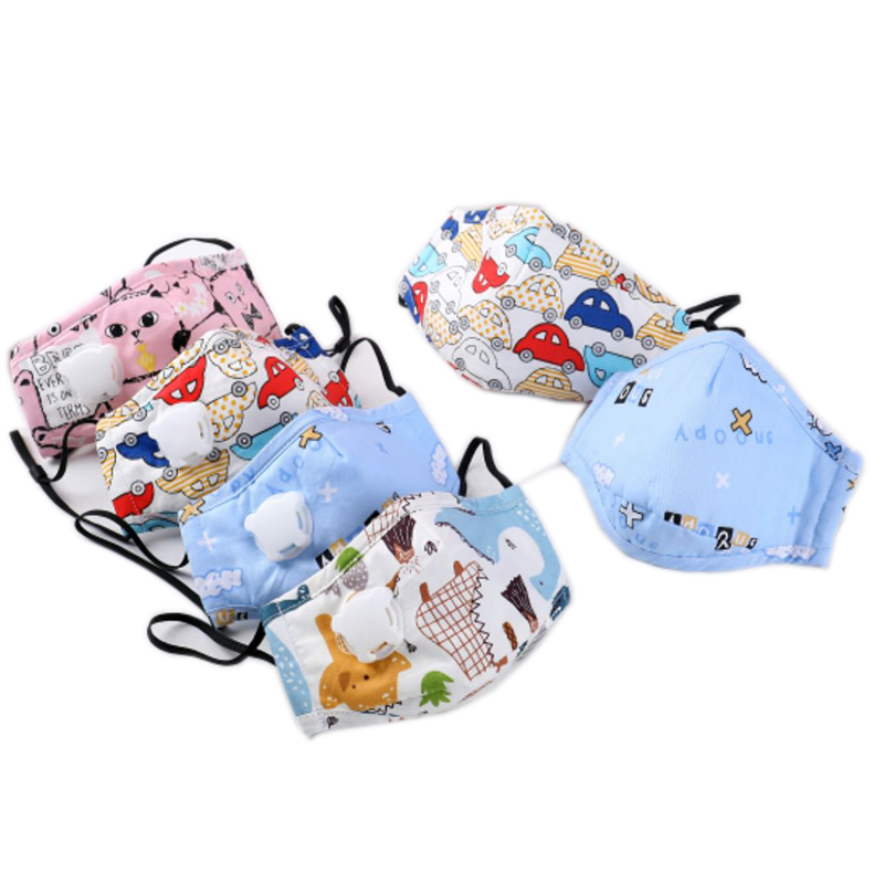 4pcs PM2.5 Children Cotton Mouth Mask Filter Breathing Valve Respirator Anti Dust Pollution Mask For Kids