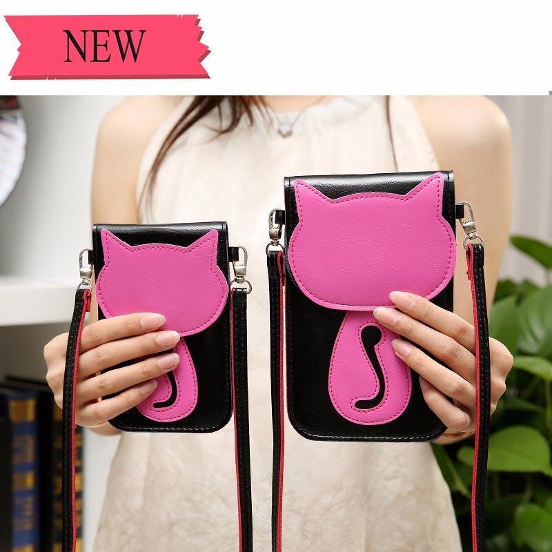 Universal Leather Cell Phone Bag Shoulder Pocket Wallet  1