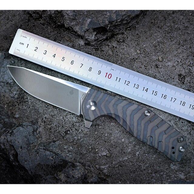 Kizer Bushcraft סכין הישרדות CPM S35VN להב 6AL4V טיטניום ידית באיכות גבוהה חיצוני כיס סכין כלי Ki4461A1 Kesmec
