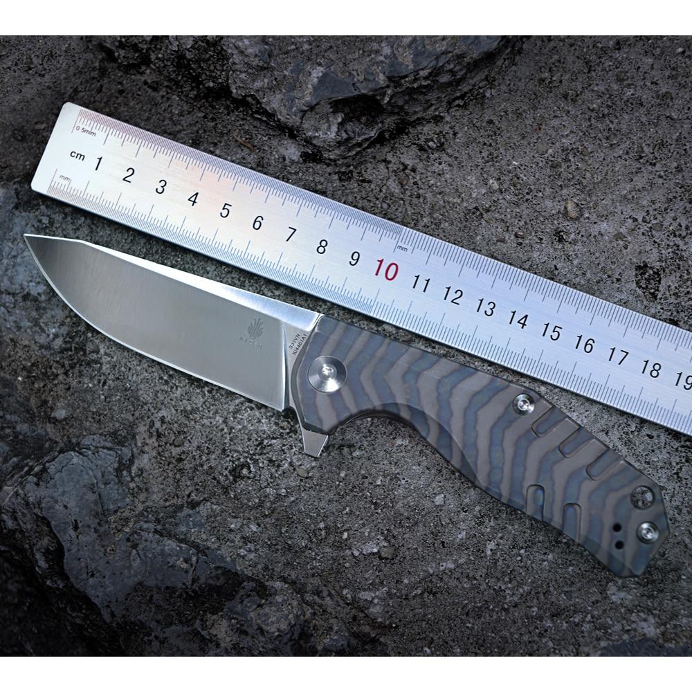 Kizer Bushcraft Knife Survival Ki4461A1 CPM-S35VN Blade Material 6AL4V Titanium Handle High Quality Out Door Pocket Knife Tool