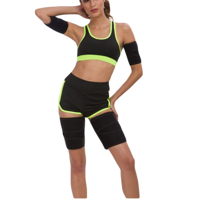 Leg Shaper Sauna Sweat Band Thigh Trimmers Calories Off Anti Slimming Cellulite Weight Loss Legs Fat Compress Belt Sportswear 5
