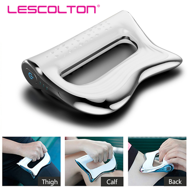 Electric Muscle Massager NMES Therapy Fascia Massage Gun Deep Vibration Muscle Relaxation Fitness Slimming Shaping Pain Relief 1