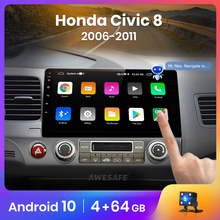 AWESAFE-PX9 GPS Multimedia video player No 2 din Android 2005 ، 2GB 32GB ، for Honda Civic 8 2011-10.0