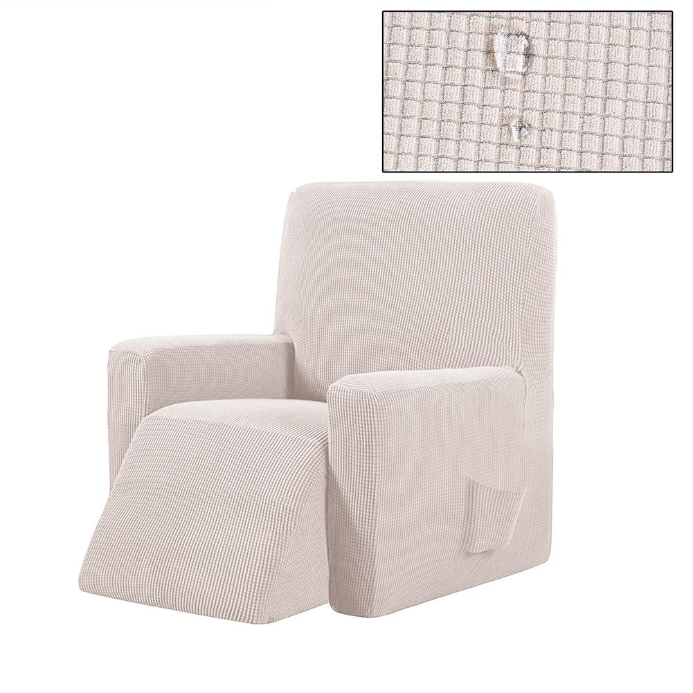 Housse canapé relax inclinable beige