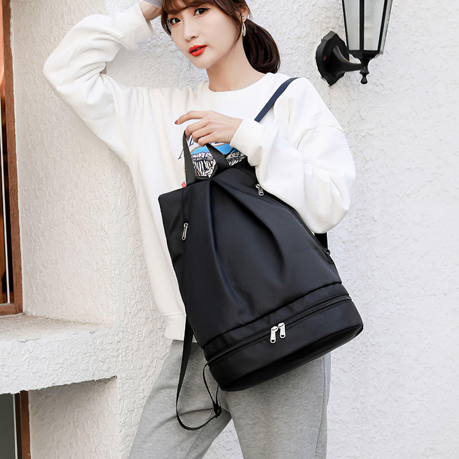 2021 New Fitness Bag Female Waterproof Beach Storage Bag Outdoor Swimming Bag Waterproof Backpack Bucket Dry Bag Travel Pack