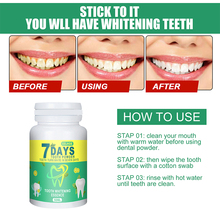 Tooth whitening powder to clean oral hygiene teeth to remove plaque stains teeth whitening dental
