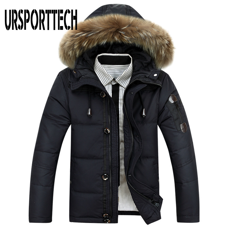 2019 New Brand Winter Jacket Men Big Size 3XL 4XL Real Fur Collar Hooded White Duck Down Jacket Thick Down Jackets Men Warm Coat