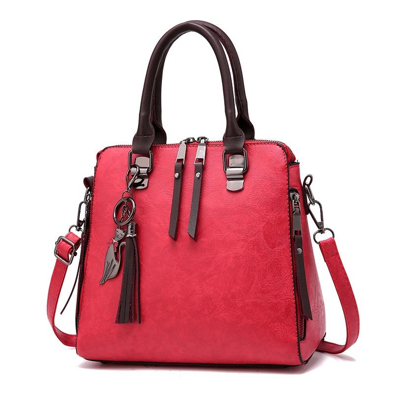 Totes Women Single Messenger Bags 2020 New Tassel Designer Crossbody Shoulder Bags Ladies Handbags Vintage PU Leather Bag Women