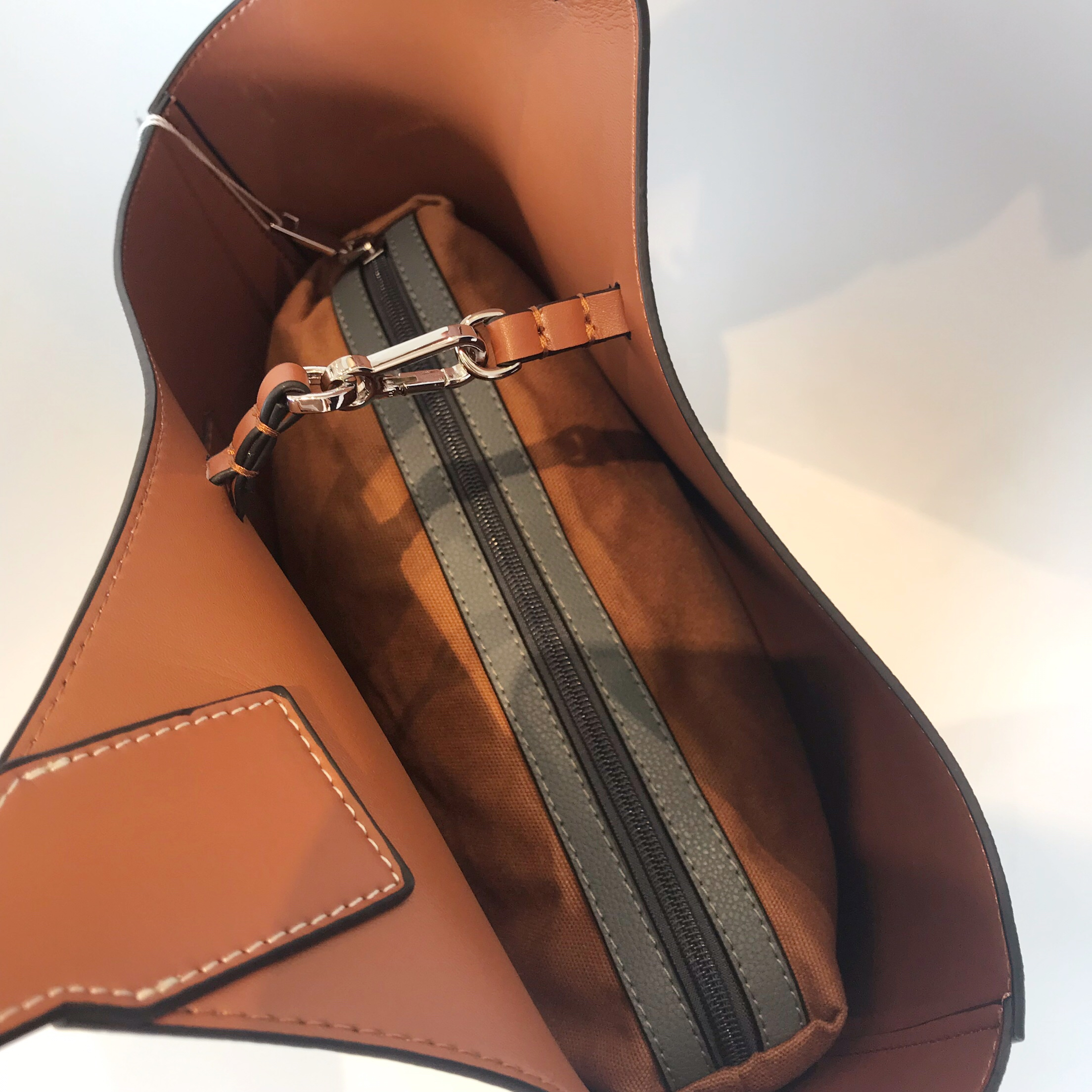 Kafunila genuína bolsas de couro para as