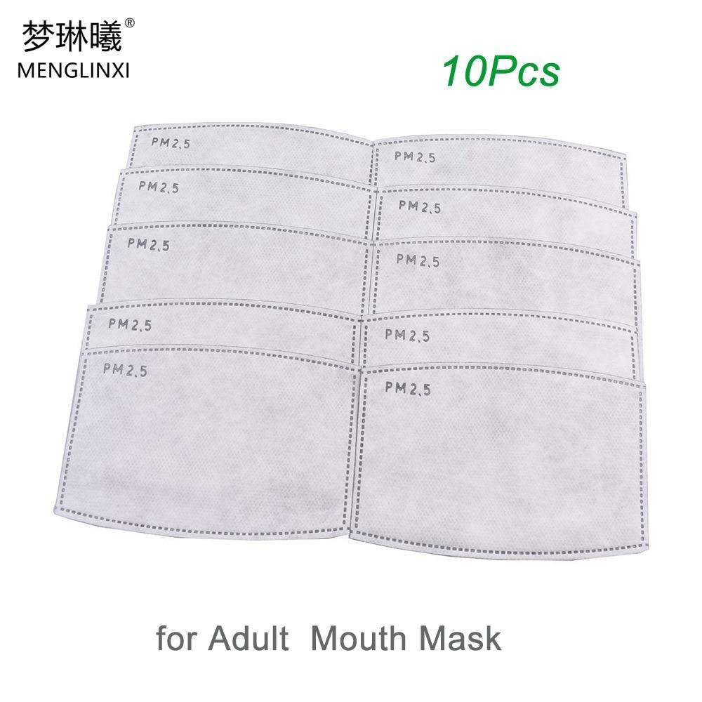 10pcs/Lot PM2.5 Filter Paper Anti Haze Mouth Mask Anti Dust Mask Filter Paper Health Care