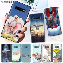 Cute Cartoon Dumbo Elephant Case Cover Coque for Samsung Galaxy S8 S9 S10 S10e 5G Note 8 9 10 5G Plus S7 S7 Edge S8+ S9+ S10+ цены онлайн