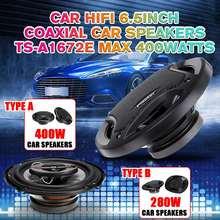 2 pçs 6.5 Polegada 400w carro coaxial alto-falante conjunto porta do veículo auto música estéreo gama completa freqüência subwoofer alta fidelidade sistema de alto-falante