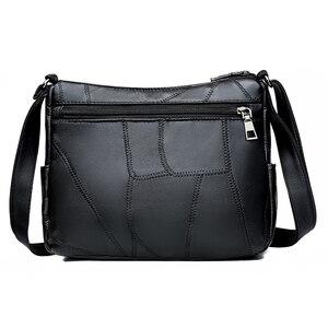 Image 2 - Frauen Aus Echtem Leder Taschen Mode blume Schulter Taschen Für Damen Umhängetaschen Luxus Designer Weiblichen Handtasche 2020 Neue