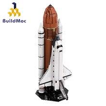 Buildmoc-figuras de astronautas de la ciudad, centro de lanzamiento de cohete técnico, Juguetes de bloques de construcción, regalos, 16014