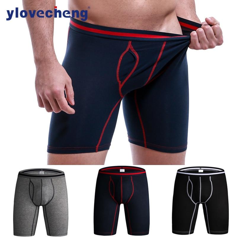 New comfort panties  95% cotton lengthened men's underwear pure cotton length anti-wear exercise men's boxer shorts.