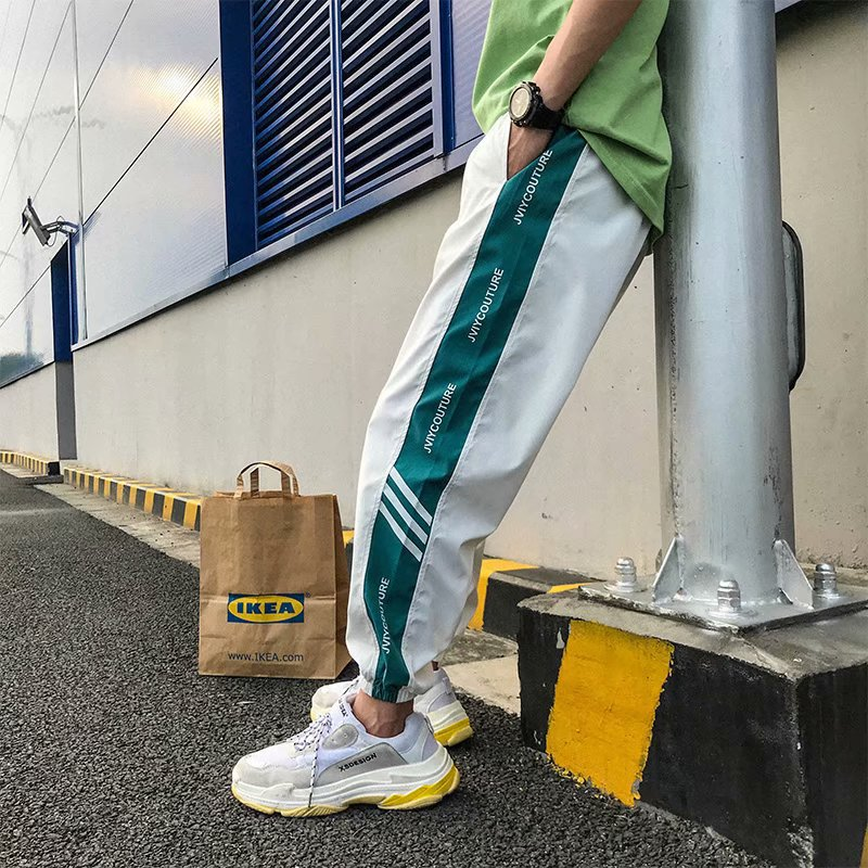 2019 Autumn Japanese Style Track Pants Men Joggers Reflective Harem Sweat Pants Pantalones Homme Streetwear Male Trousers