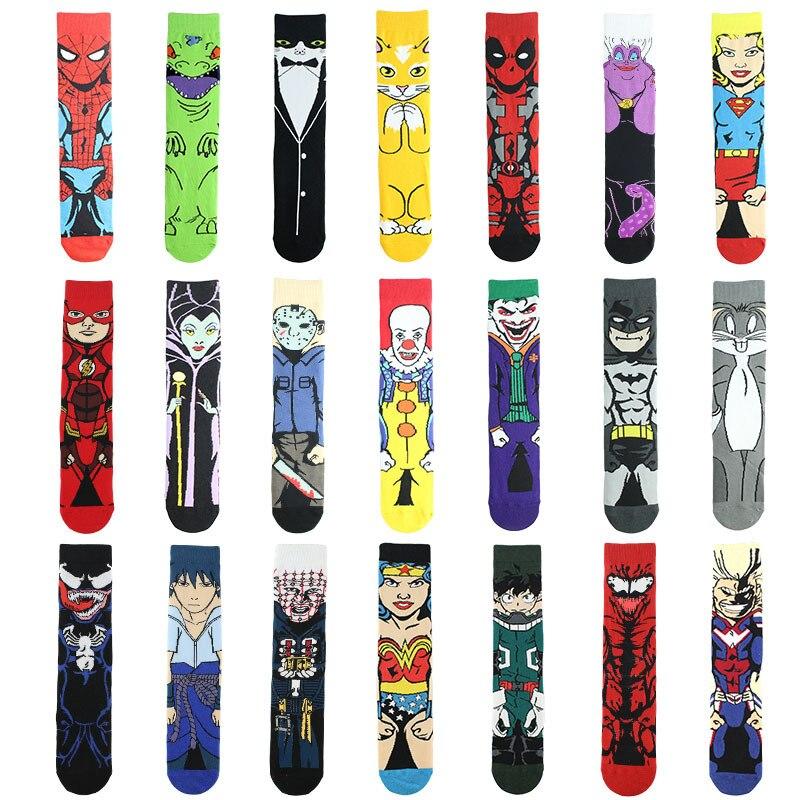 Cotton cartoon socks, Venom Planet, anime peripheral socks, breathable, middle tube hero socks, 7-15 years old