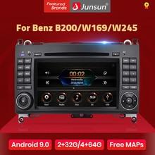 Junsun 2 Din Xe Ô Tô Đài Phát Thanh Đầu Dvd Ô Tô Cho Xe Mercedes Benz B200 Một Lớp B W169 W245 Viano Vito W639 vận Động Viên Chạy Nước Rút W906 Android 9.0 GPS