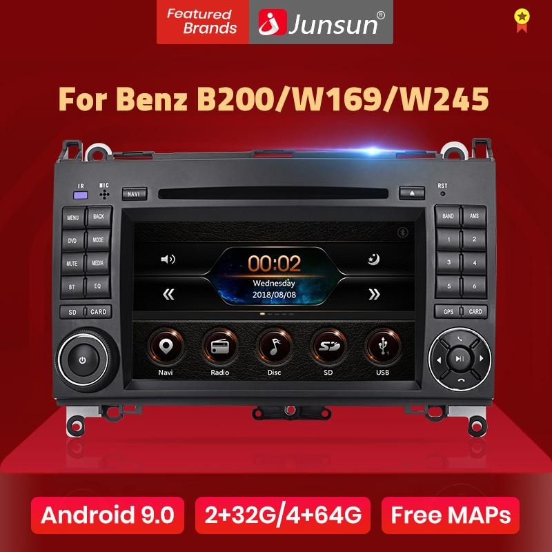 Junsun 2 din araba radyo araç dvd oynatıcı oynatıcı Mercedes Benz B200 A B sınıfı W169 W245 Viano Vito W639 Sprinter w906 Android 10 GPS