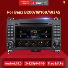 Junsun 2 딘 자동차 라디오 자동차 dvd 플레이어 메르세데스 벤츠 B200 A B 클래스 W169 W245 Viano Vito W639 스프린터 W906 안드로이드 9.0 GPS