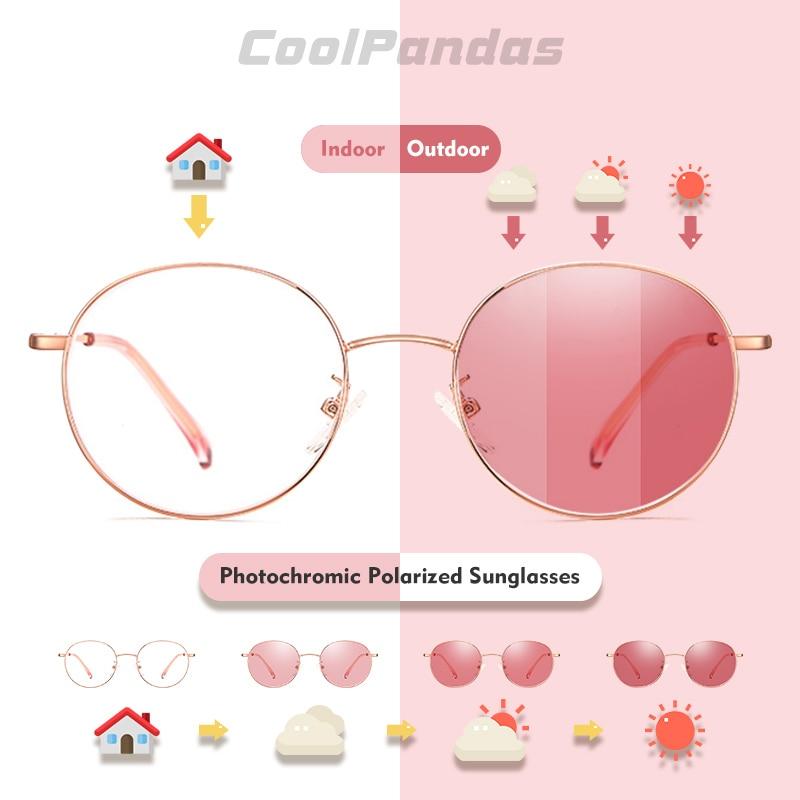 2020 Photochromic Sunglasses Women Polarized Chameleon Candy Lens Sun Glasses Vintage Oval Street Beat UV400 lentes de sol mujer