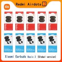 Xiaomi-auriculares Redmi Airdots 2 con Bluetooth 5,0, auriculares intrauditivos básicos impermeables con tecnología TWS